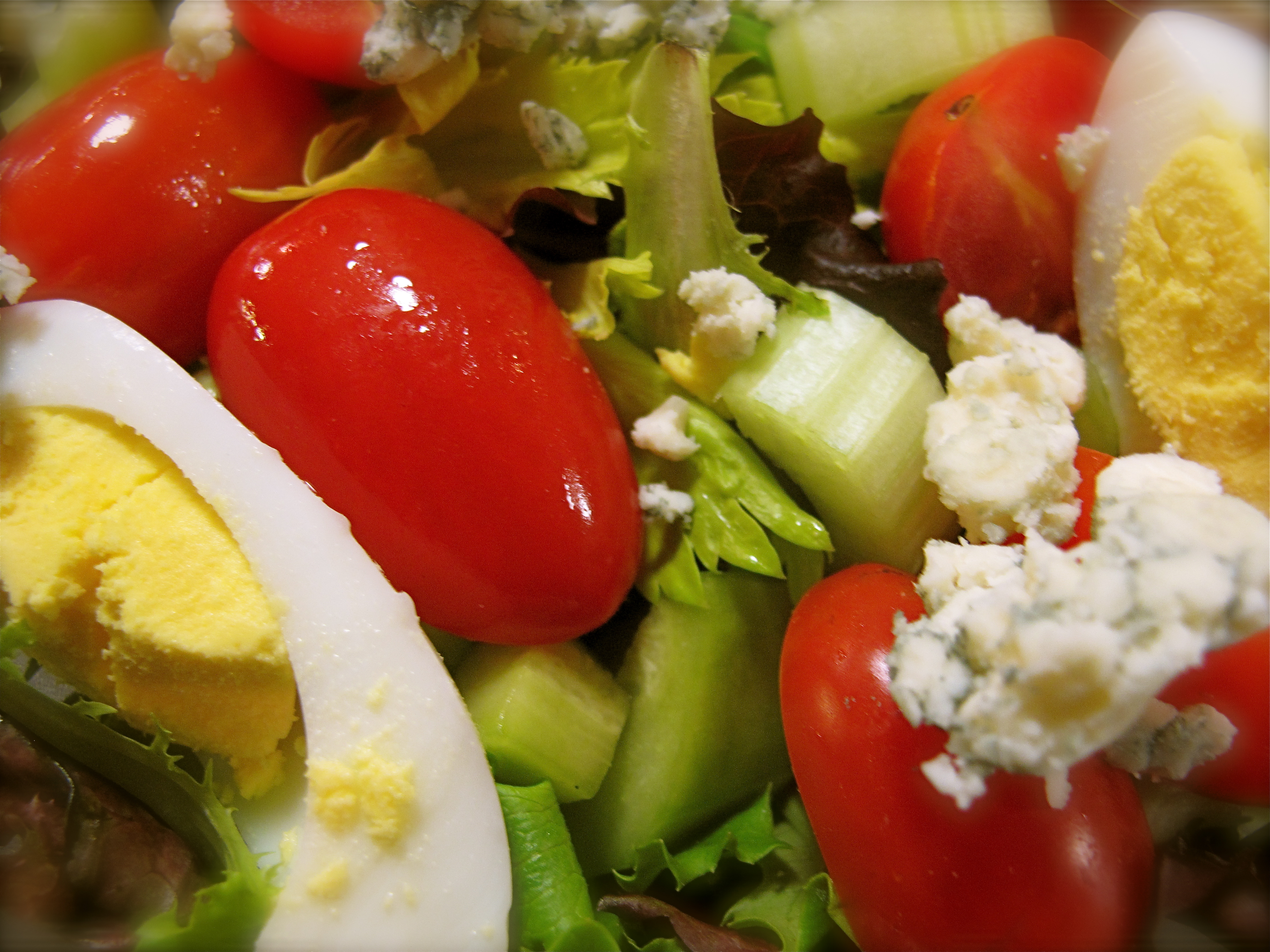 Peasant Salad w/Feta, Cukes, Tomatoes, Oregano, Basil Leaves, Crisp ...