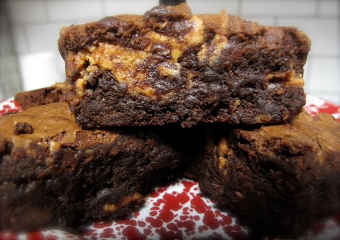 choc peanut butter brownies