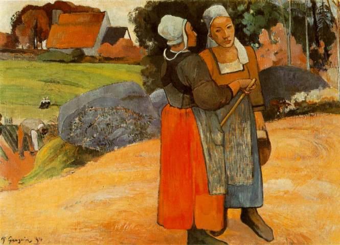 Breton-Peasant-Women-Paul-Gauguin-1894