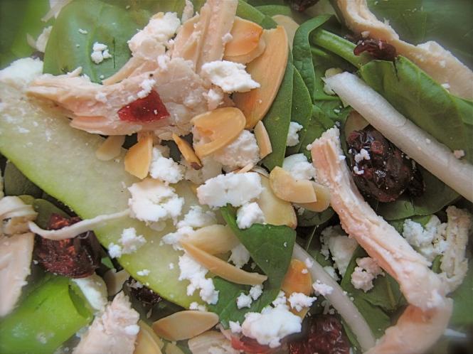 endive cranberry  pear salad