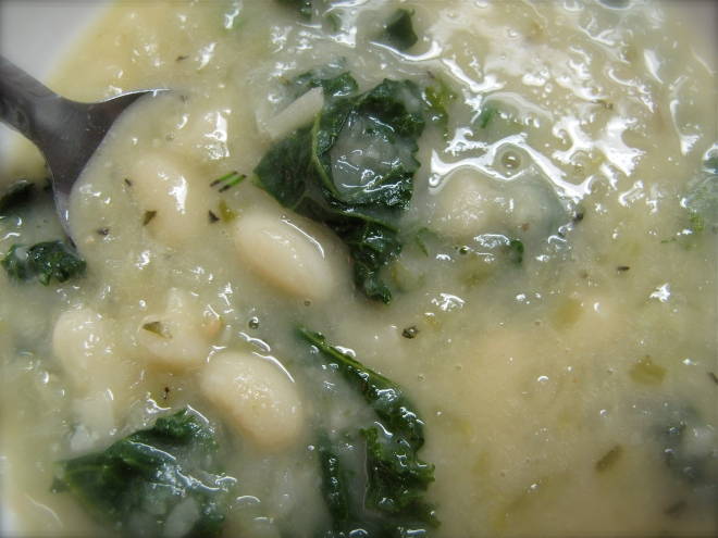 white bean kale