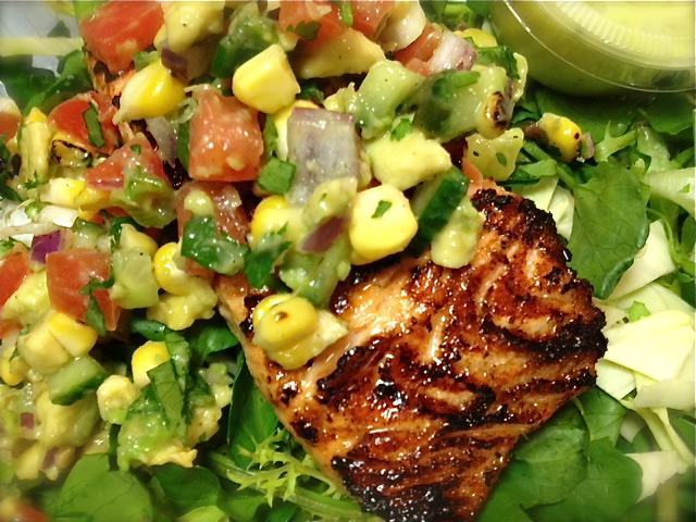 Marinated Wild Alaskan Salmon And Avocado Salad With Watercress Recipe ...
